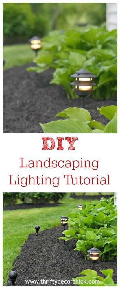 最简单的DIY景观照明教程,提供完整的说明。