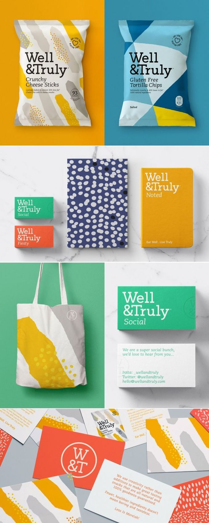 Well & Truly is Here To Change Up The Healthy Snack Market With Colorful Packaging — The Dieline | Packaging & Branding Design & Innovation News
