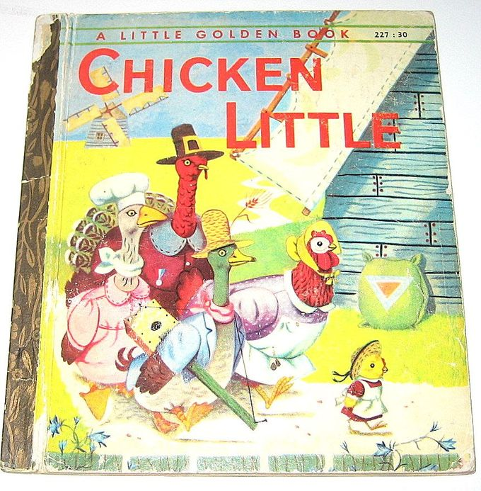 chicken little, little golden book