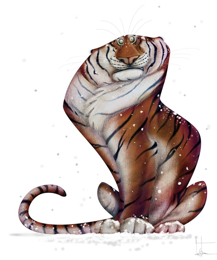 #illustration of a tiger - jean baptiste vendamme