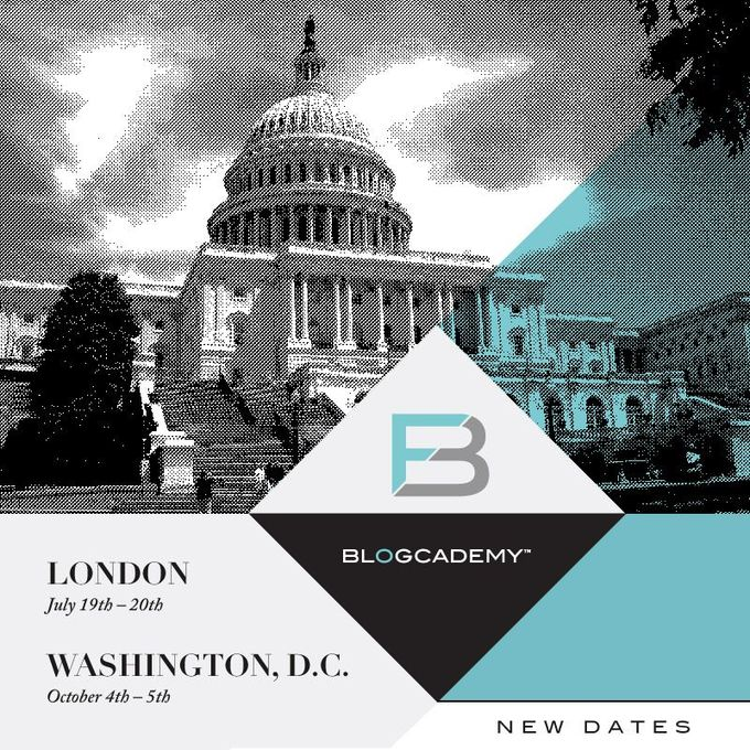 Blogcademy New Dates