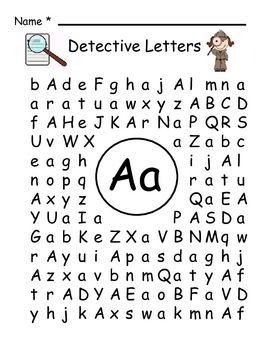 帮助您的学生学会在视觉上区分字母表中的字母。这些页面设置为单词搜索,但学生不是寻找单词,而是寻找大写和小写字母。一套A到Z是在漫画中完成的。另一个
