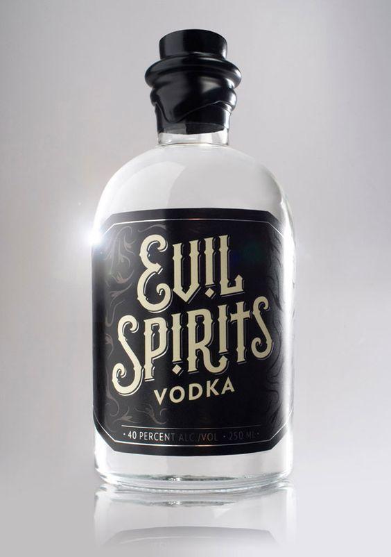 Evil Spirits Vodka. Package Design. Food.