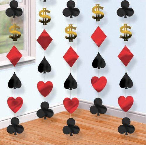 赌场派对挂饰卡片拉斯维加斯扑克桥扑克牌|易趣