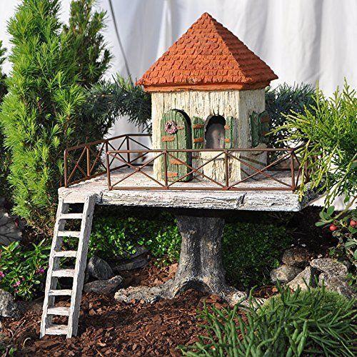 迷你微型仙女花园仙女度假屋花园桥