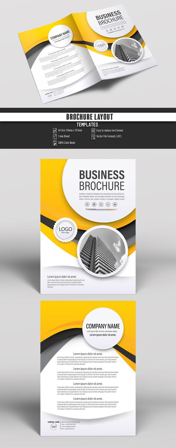 Brochure Cover Layout with Yellow and Gray Accents 4. Buy this stock template and explore similar templates at Adobe Stock  #Brochure #Business #Proposal #Booklet #Flyer #Template #Design #Layout #Cover #Book #Booklet #A4 #Annual #Report| Brochure template | Brochure design template | Flyers | Template | Brochures | Flyer Background | Background design | Business Proposal | Proposal Design | Booklet | Professional | Professional - Proposal - Brochure - Template