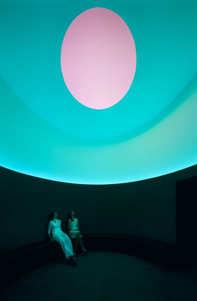 James Turrell projects the color inside at UT austin, texas, USA