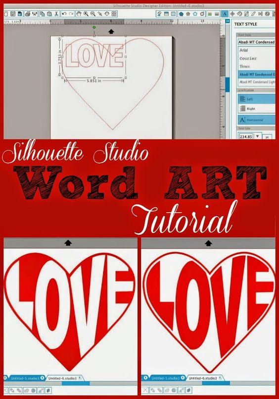 关于在Silhouette Studio中制作文字艺术或形状文本的教程。