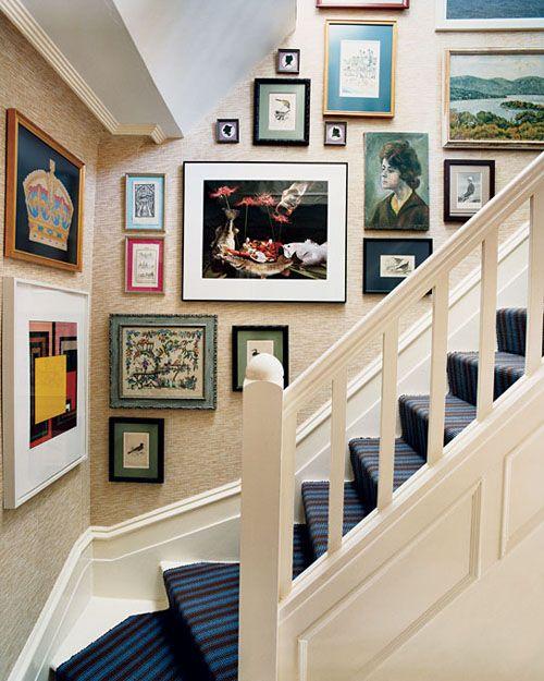 楼梯画廊墙