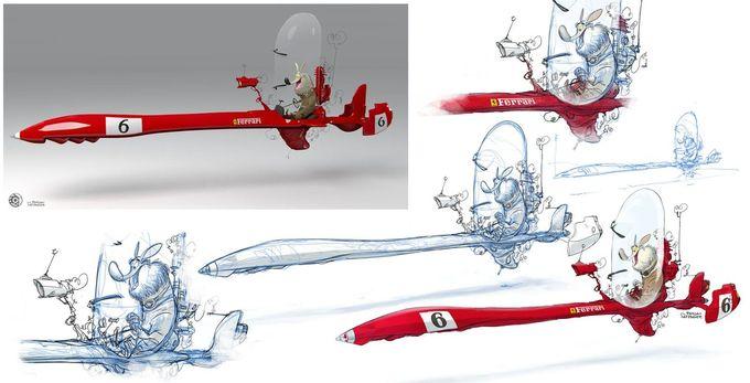 Ferrari Needle Snow-Jet Bike | CG: Diego Moya Parra | Illustrator: Florian Satzinger