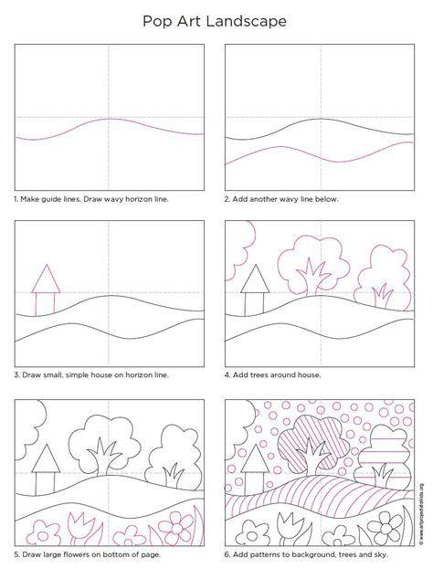如果你采用一些简单的风景形状并添加许多明亮的图案和颜色,你最终可以得到一个非常有趣的波普艺术风景画。 •查看和下载波普艺术绘图教程