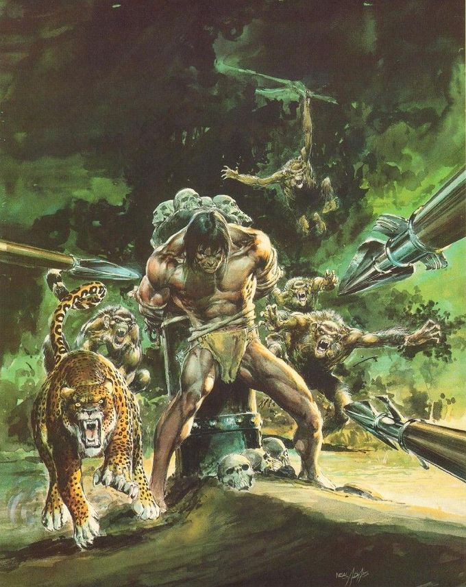 Beasts of Tarzan - Neal Adams Portfolio
