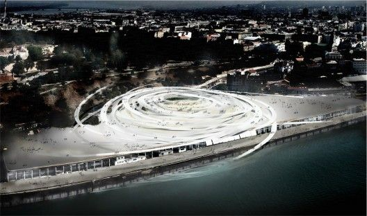 Beton Hala Waterfront Center / Sou Fujimoto Architects