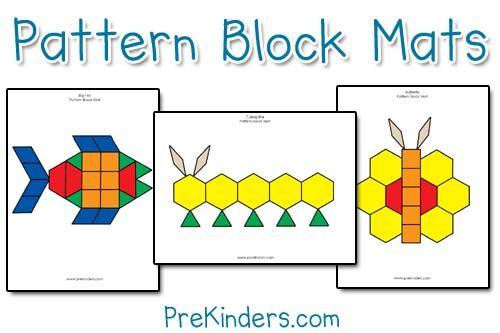 这些模块块垫构建解决问题的技能。免费可打印的垫子颜色和黑线。超过40个模式块图片卡。