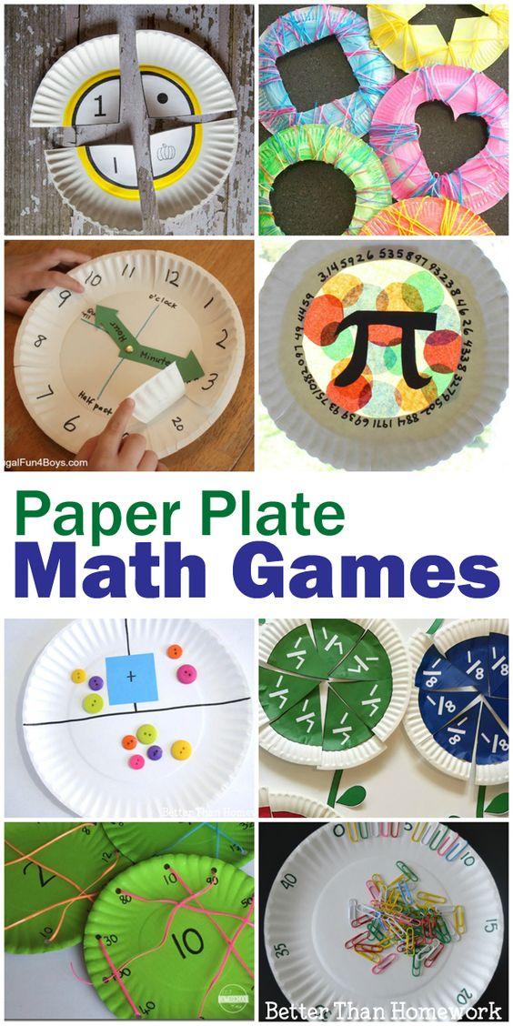 所有这些数学纸盘游戏都很容易制作,可以将数学变成有趣的实践活动。你会找到所有小学成绩的活动。
