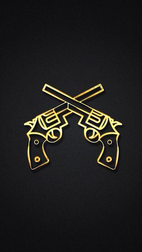 Gold Gun iPhone 7 and iPhone 7 Plus HD Wallpaper