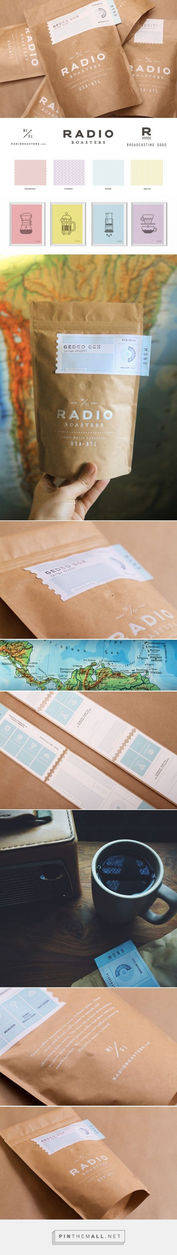 Radio Roasters Coffee packaging designed by TNKR Design (USA)