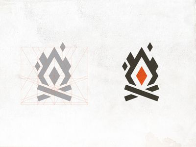Bonfire Red logo by Jung Heo