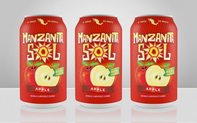 Hispanic package design and branding for Manzanita Sol. Hispanic package design and branding for Manzanita Sol a Mexican soft drinks owned by PepsiCo. Although Manzanita Sol is a top -selling carbonated soda in Mexico and has become a cult brand in the US, many of the brand's most valuable equities had eroded over time.