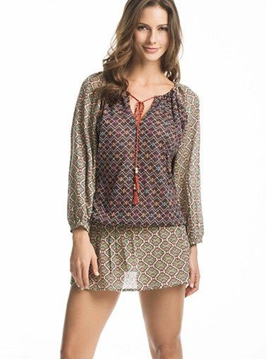 Ambrosia Beach Cover-Up by OndadeMar /  This summer time feel the wind, walk on the beach and watch the sunset, put on this stunning beach cover-up and love life! PRICE $138