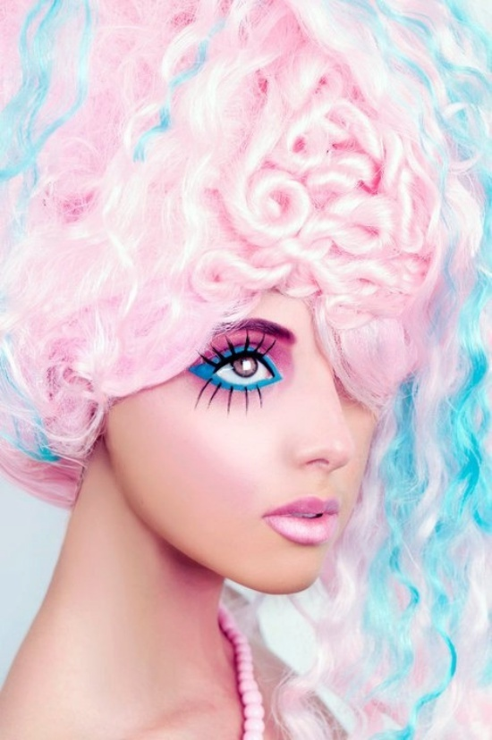 Marie Antoinette Style Cotton Candy Look Wig