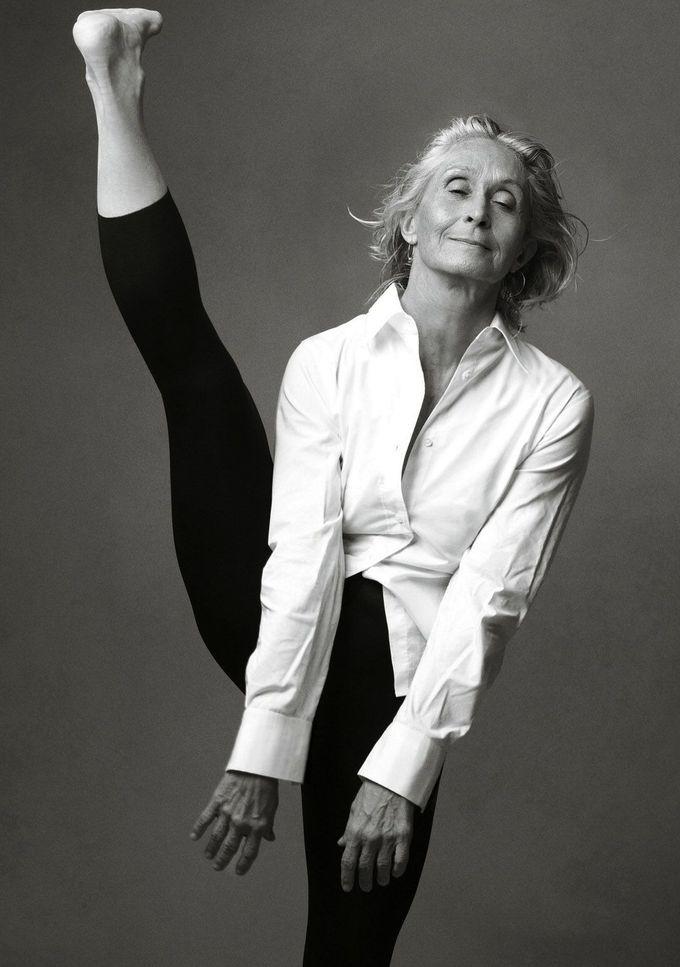 Dancer Twyla Tharp photographed by Annie Liebovitz