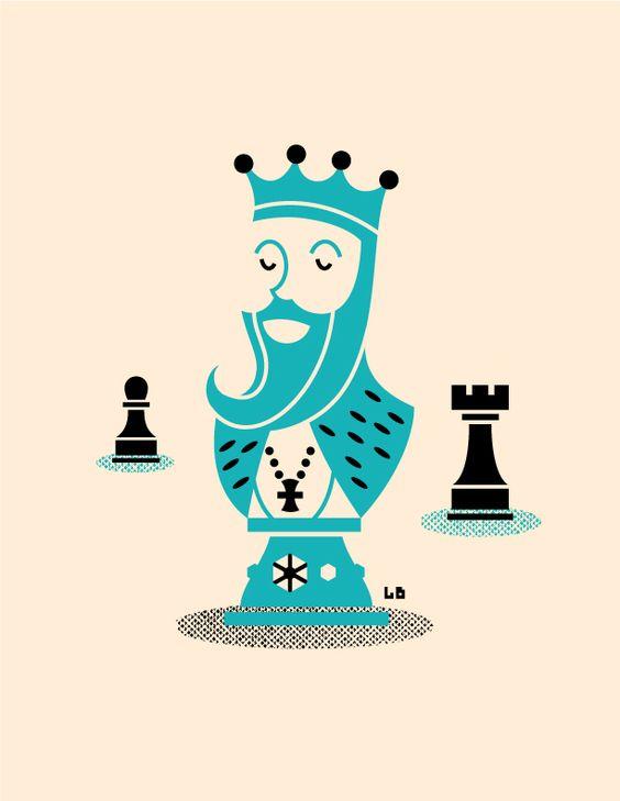 Chess piece illustration by Luke Bott.