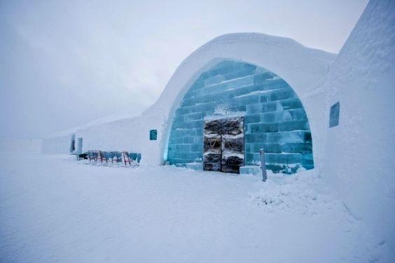 Ice Hotel in Jukkasjärvi, Northern Sweden