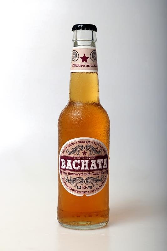 Bachata Beer, flavoured with rum.