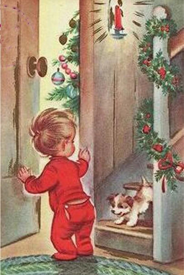 This vintage Christmas card was too cute not to pin somewhere! =)x