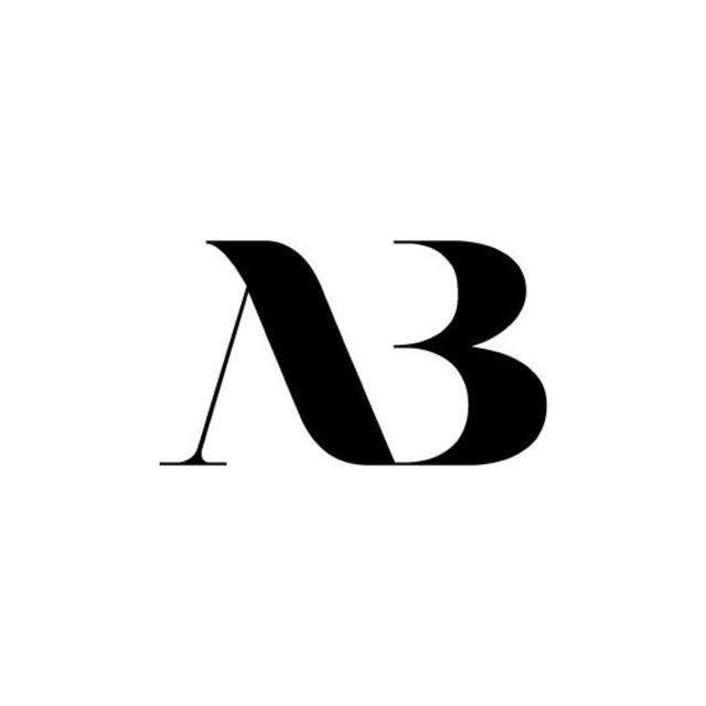 AB logo / serif logo / typography