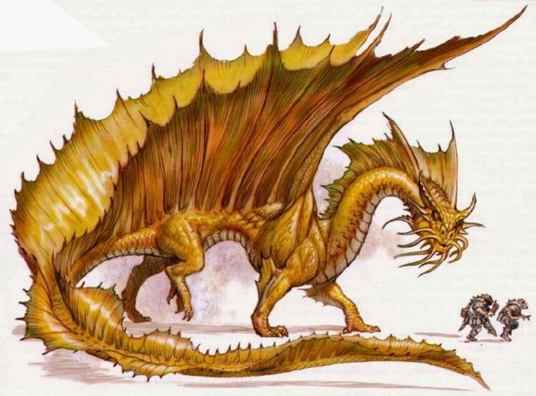 gold dragon d&d - Google Search
