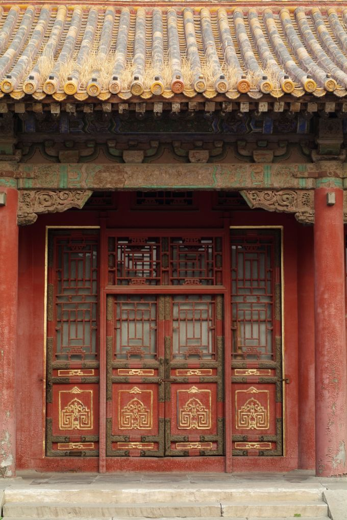 Entrance of a Chinese house in Forbidden City Beijing