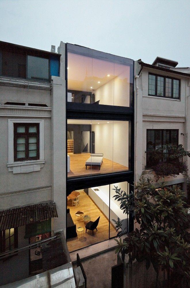 Rethinking the Split House / Neri Hu Design and Research Office #casas #homes #vidrio #glass #vidro #ventanas #windows #janelas