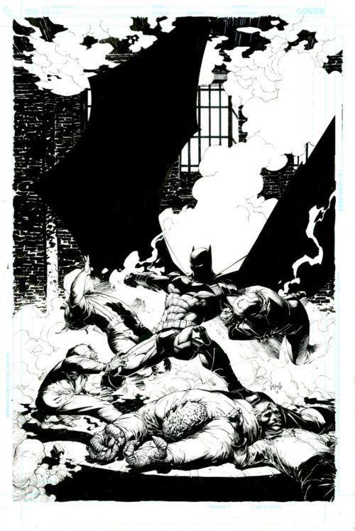 Greg Capullo's First Batman Cover Sketch