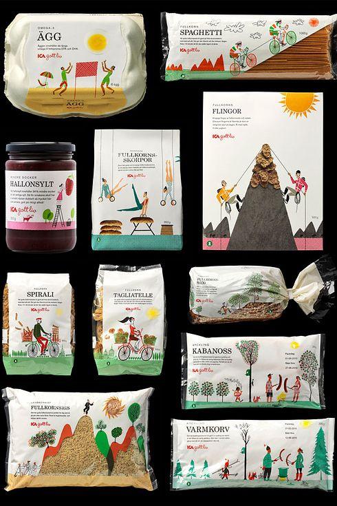 ICA, una marca sueca de comestibles   Los 25 diseños de empaque más geniales…