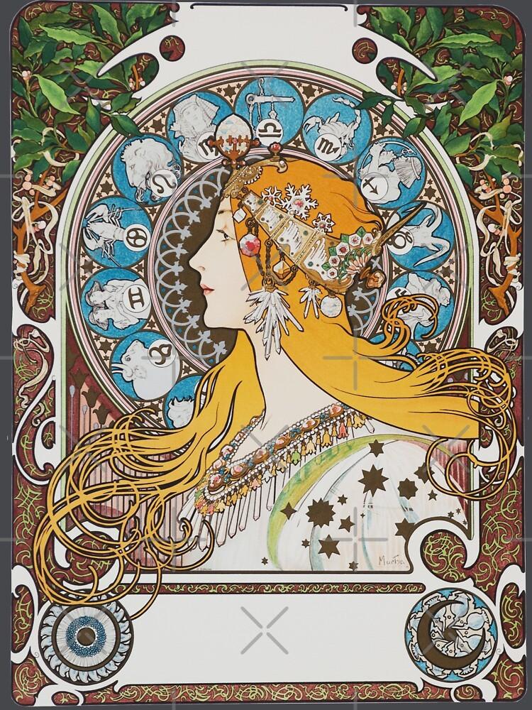 畫 名 : 黃道帶 Zodiac 作 者 : 慕夏 Alphonse Mucha 年 份 : 1896 年