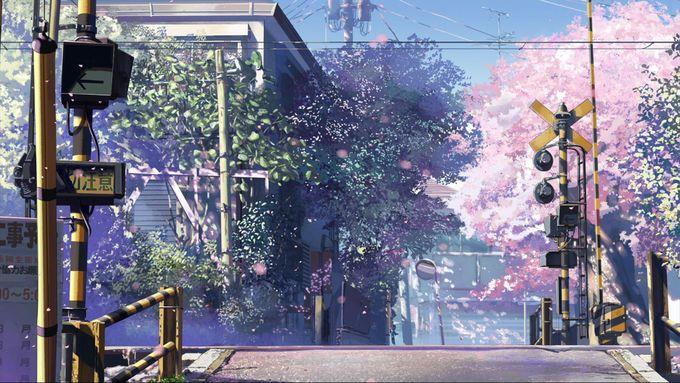 How have I missed this artist and those brilliant colors?! (Makoto Shinkai)