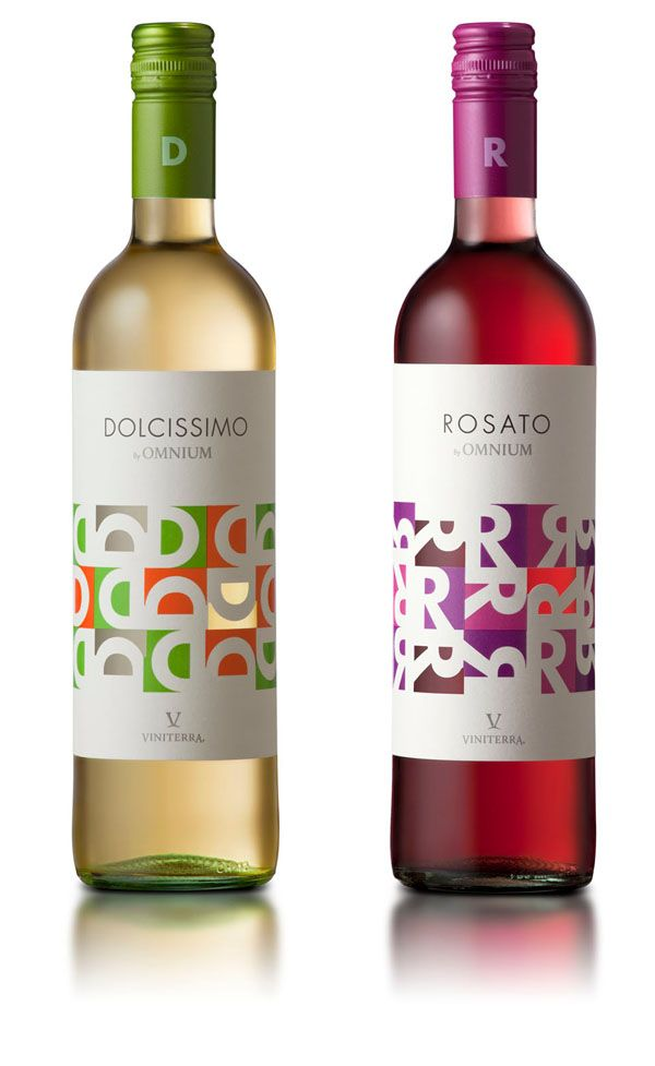 Dolcissimo y Rosato, wine packaging design. PD