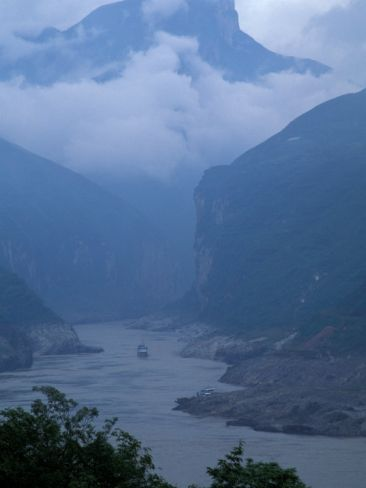 Entrance to Qutang Gorge, Three Gorges, Yangtze River, China