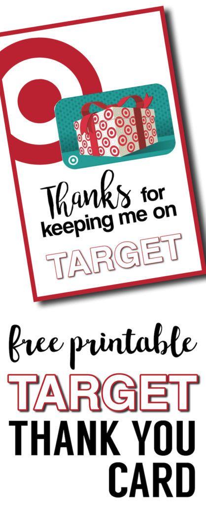 目标感谢卡免费可打印。 DIY教师礼品卡的想法。轻松的老师鉴赏礼物可打印目标礼品卡。大教练谢谢你的礼物