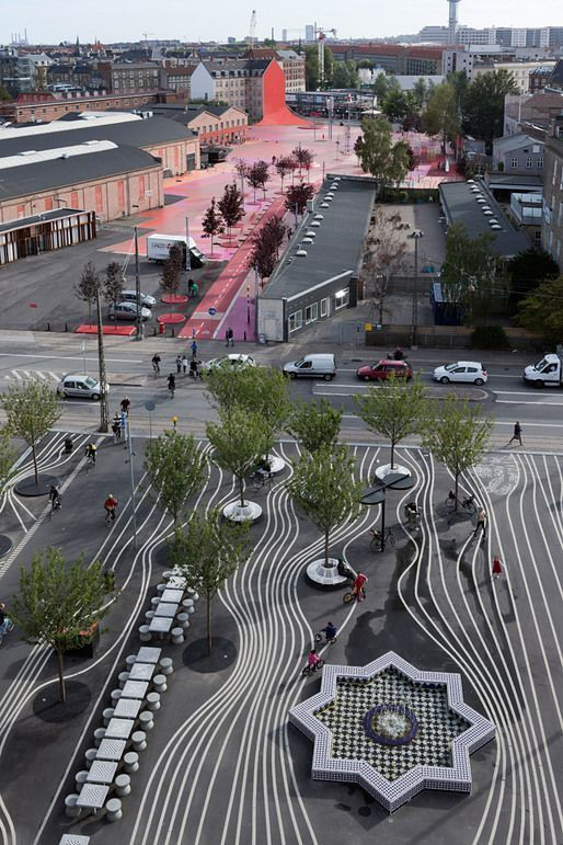 Superkilen urban park in Copenhagen, Denmark (Photo: Iwan Baan) lσvє ♥ #bluedivagal, bluedivadesigns.wordpress.com