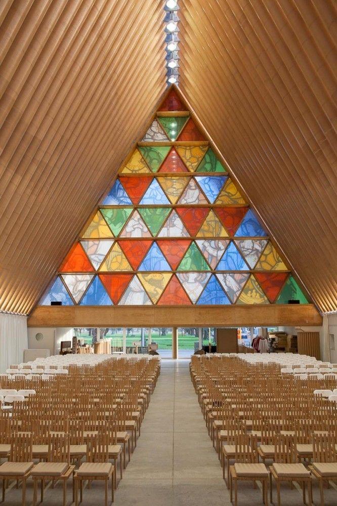 最近发布的Shigeru Ban's Cardboard Cathedral在新西兰的照片