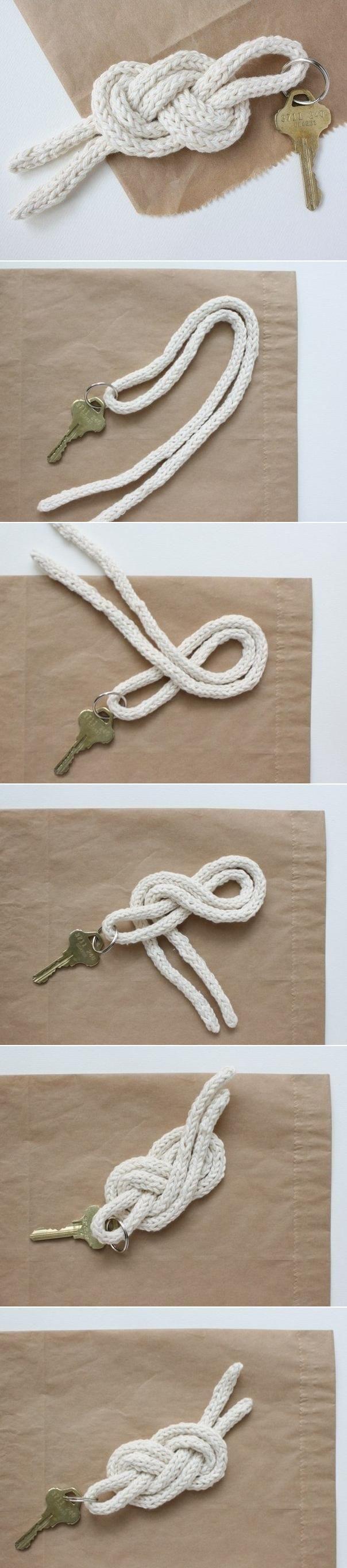DIY Easy Knot钥匙包