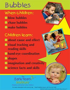 早期研究所分享孩子们在泡泡时学习的内容!