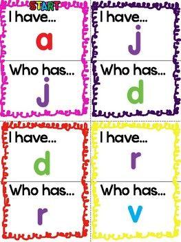 """自由!一个有趣的""""我有!有谁?""""帮助孩子掌握小写字母和声音的游戏。玩得开心!"""
