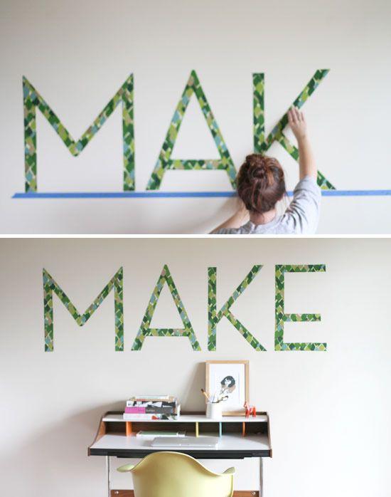 DIY租赁友好的可移动DIY排版墙贴花