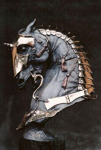 "Douwe Blumberg,Warhorse 1 - Medievalbronze, 11"" x 8"" x 4"""