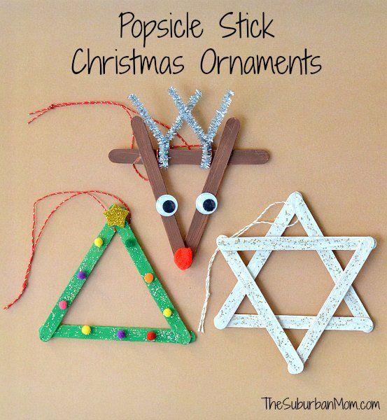 每个人都喜欢冰棍棒工艺品和这3个冰棒棒圣诞饰品一样可爱,因为它们很容易。可爱的孩子们手工制作圣诞礼物。