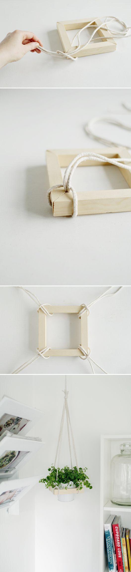 木制挂式花盆框架 - 简单的DIY